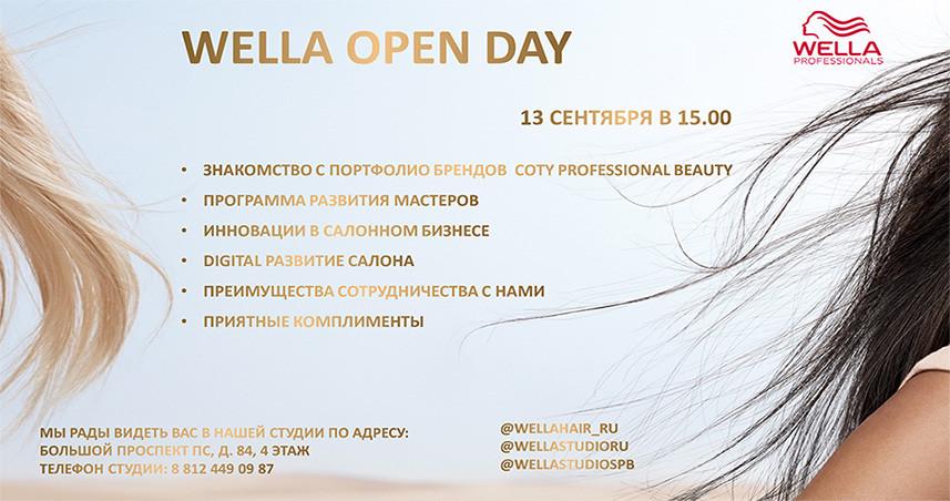 Приглашение на OPEN DAY11 Wella Prof