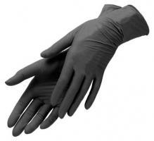 Перчатки одноразовые черные Wella Professionals для окрашивания, без талька, размер М