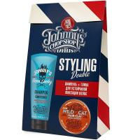 Набор Johnny's Chop Shop, шампунь-кондиционер, 250 мл + глина матирующая для устойчивой фиксации волос, 70 г