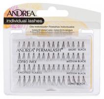 Пучки ресниц узелковые Andrea Perma Lash Flair, комбинированные, черные