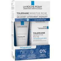 Набор La Roche-Posay Toleriane Sensitive Riche, насыщенный крем, 40 мл + очищающий гель-уход, 50 мл