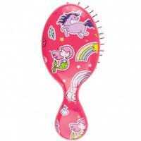 Щетка Wet Brush для спутанных волос mini, розовый единорог