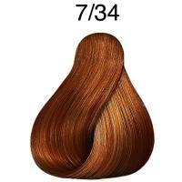 Крем-краска стойкая Londa Color для волос, блонд золотисто-медный 7/34