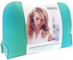 Набор подарочный Nioxin в косметичке, мусс, 200 мл + сухой шампунь, 65 мл