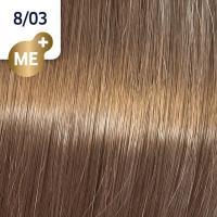 Крем-краска стойкая Wella Professionals Koleston Perfect ME + для волос, 8/03 Янтарь