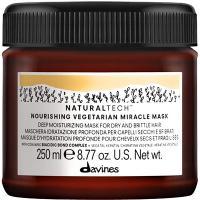 Маска интенсивно питающая Davines Natural Tech Nourishing Вегетарианское чудо, для сухих и поврежденных волос, 250 мл