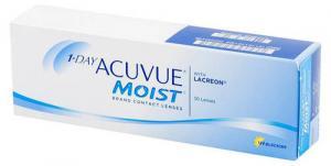 Линзы контактные однодневные Johnson&Johnson 1-DAY Acuvue Moist D+1.50 R9.0, 30 шт.