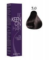 Крем-краска KEEN COLOUR CREAM 5.0, светло-коричневый, 100 мл