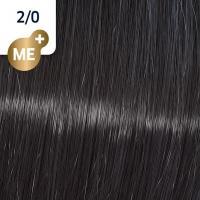 Крем-краска стойкая Wella Professionals Koleston Perfect ME + для волос, 2/0 Черный натуральный