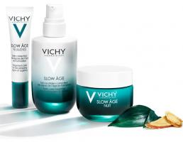 Набор Vichy Slow Age, флюид против признаков старения, 50 мл + ночной крем-маска, 50 мл + уход для контура глаз, 15 мл