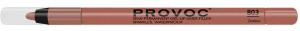Подводка гелевая Provoc для губ, в карандаше, кофейно-бежевый нюд, 803