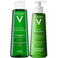 Набор Vichy Normaderm лосьон очищающий сужающий поры, 200 мл + гель очищающий Phytosolution для умывания, 200 мл