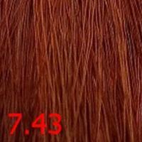 Крем-краска KEEN COLOUR CREAM 7.43, натуральный медно-золотистый блондин, 100 мл