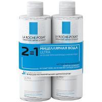 Дуопак: вода мицеллярная La Roche-Posay Ultra для чувствительной кожи, 2 х 400 мл