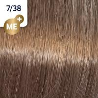 Крем-краска стойкая Wella Professionals Koleston Perfect ME + для волос, 7/38 Пряный бисквит