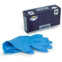 Перчатки нитриловые Aviora, неопудренные, одноразовые, голубые, размер M, 50 пар