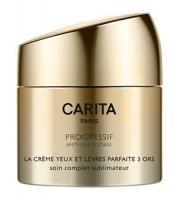 Крем Carita Progressif Anti-Age Global для глаз и губ, 3 золота, 15 мл