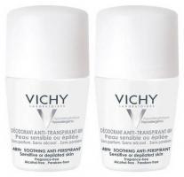 Дезодорант шариковый Vichy для очень чувствительной кожи, 2х50 мл