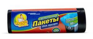 Пакеты для мусора ФРЕКЕН БОК, сверхпрочные, 120 л, 70x110 см, 10 шт., черные