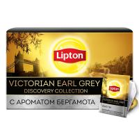Чай черный ароматизированный Lipton Victorian Earl Grey в конвертах, 25 шт.