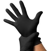 Перчатки нитриловые Мой Салон, одноразовые, черные, размер S, 50 пар