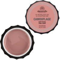 Гель Alessandro Camouflage Gel для наращивания ногтей, светло-розовый, 15 г