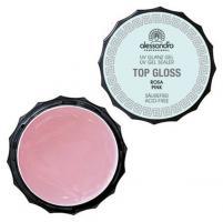 Гель Alessandro Top Gloss Gel для наращивания и моделирования ногтей, розовый, 15 г