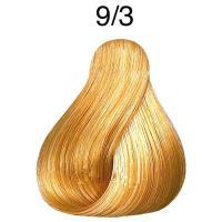 Крем-краска стойкая Londa Color для волос, очень светлый блонд золотистый 9/3
