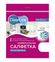 Салфетка для уборки Clear Line Uni супервпитывающая из микрофибры (30х30)