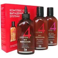 Комплекс стандартный System 4 от выпадения волос, маска, 215 мл + сыворотка ботаническая, 200 мл + шампунь, 215 мл
