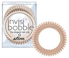 Резинка-браслет для волос invisibobble SLIM Bronze Me Pretty, мерцающий бронзовый
