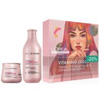 Набор весенний L'Oreal Professionnel Vitamino Color для защиты цвета окрашенных волос, шампунь, 300 мл + маска, 250 мл