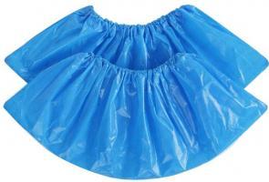 Бахилы полиэтиленовые голубые, усиленные, 50 пар