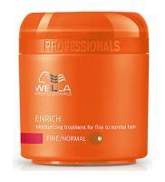 Крем-маска питательная Wella Professionals Enrich для нормальных и тонких волос, 150 мл
