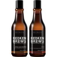 Набор новогодний Redken Brews для мужчин, 300 мл + 300 мл