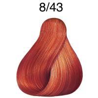 Крем-краска Londa Color интенсивное тонирование для волос, светлый блонд медно-золотистый 8/43