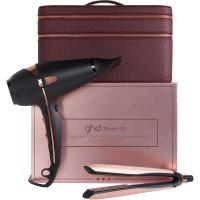 Набор подарочный GHD с несессером, фен air + стайлер platinum+ в оттенке розовое золото
