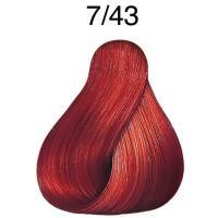 Крем-краска стойкая Londa Color для волос, блонд медно-золотистый 7/43