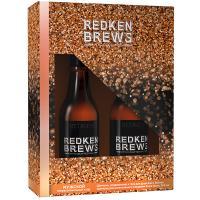 Набор новогодний Redken Brews 2021, шампунь, 300 мл + шампунь, кондиционер и гель для душа 3-в-1, 300 мл