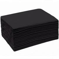 Полотенце одноразовое Мой Салон из спанлейса, черное, 35х70 см, 40 г/м2, 50 шт