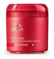 Крем-маска Wella Professionals Brilliance для окрашенных нормальных и тонких волос, 150 мл