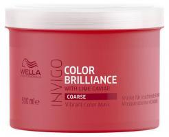 Маска-уход Wella Professionals Invigo Color Brilliance для защиты цвета окрашенных жестких волос, 500 мл