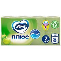Бумага туалетная Zewa Плюс Яблоко, 2-х слойная, 8 шт