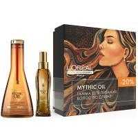 Набор весенний L'Oreal Professionnel Mythic Oil для питания волос по длине, шампунь, 250 мл + масло, 100 мл