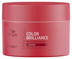 Маска-уход Wella Professionals Invigo Color Brilliance для защиты цвета окрашенных жестких волос, 150 мл