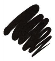 Подводка гелевая Provoc для глаз, в карандаше, угольно-черный с голографией, 98