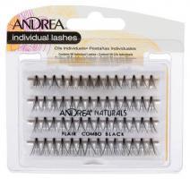 Пучки ресниц безузелковые Andrea Perma Natural Lashes комбинированные, черные