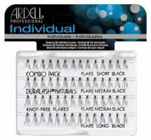 Пучки ресниц безузелковые Ardell DuraLash, комбинированные, черные
