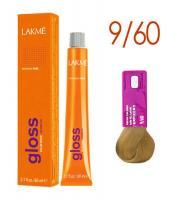 Крем-краска тонирующая LAKME GLOSS, 9/60 светлый блондин коричневый, 60 мл