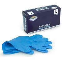 Перчатки нитриловые Aviora, неопудренные, одноразовые, голубые, размер L, 50 пар